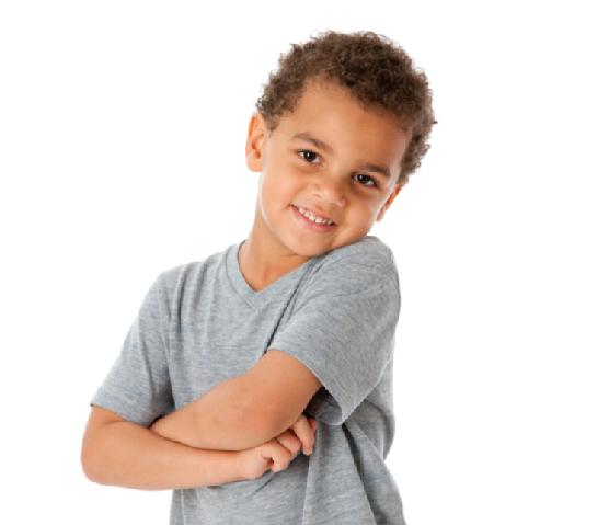 Smiling Mixed Race Little Boy Caucasian Black Head Shoulders